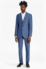 Looks Great With Slim Mid Blue Suit Trousers