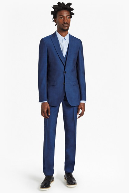 Slim Pin Dot Suit Trousers