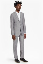 Looks Great With Slim Light Grey Suit Trousers