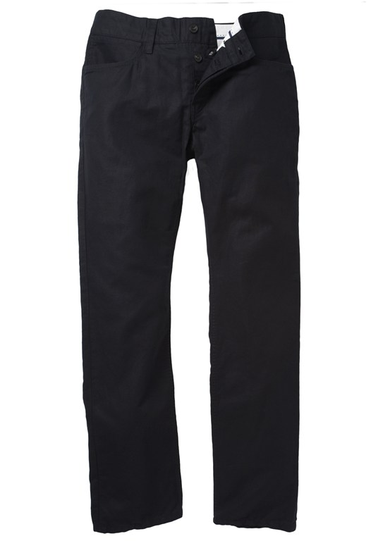 Linen Blend Trousers Blue