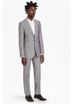 Slim Light Grey Suit Trousers
