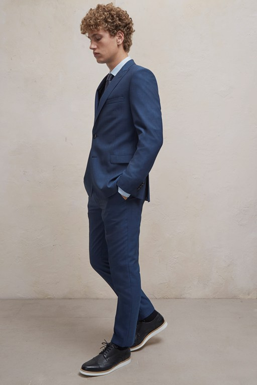 Complete the Look Blue/Black Suit Trousers