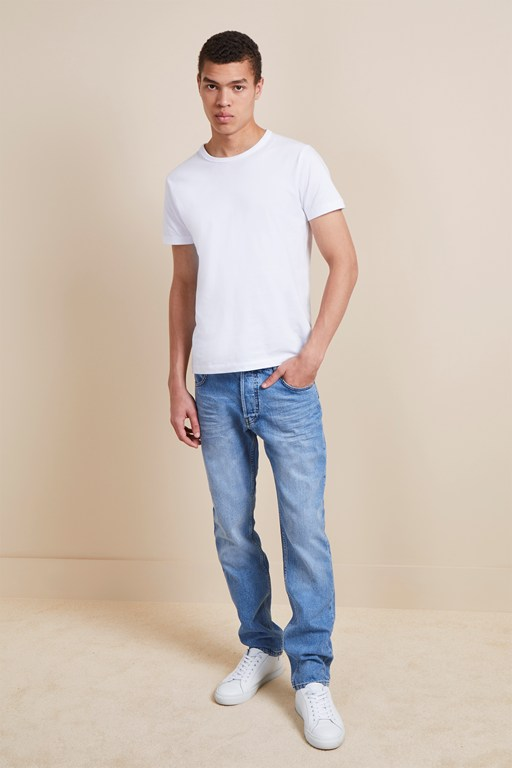 72-denim stretch indigo slim fit jeans