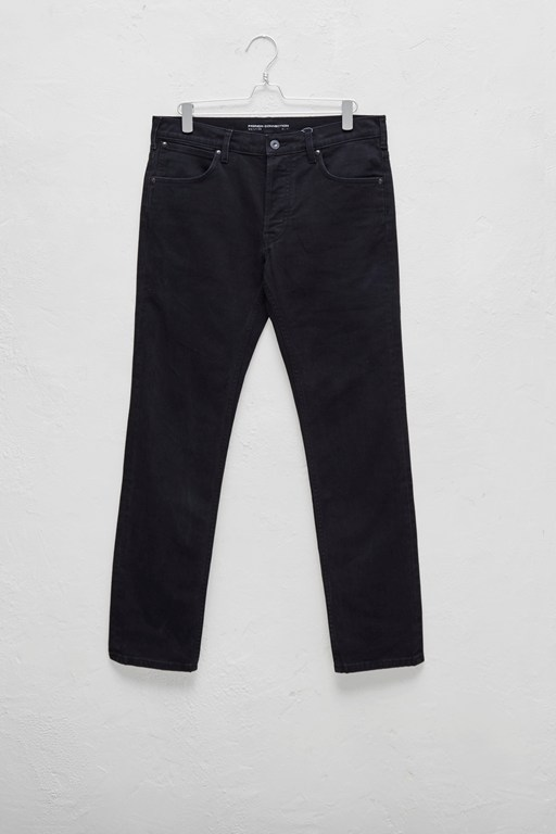 72-denim stretch black slim fit jeans