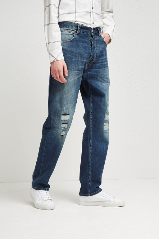 Complete the Look Track Denim Loose Tapered Jeans