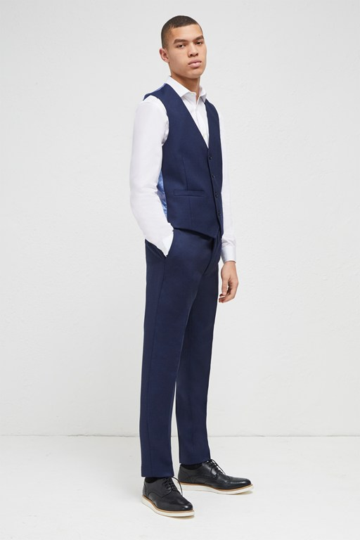 bright blue milled suit trousers