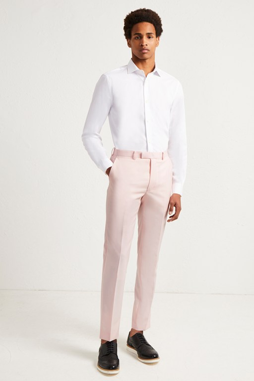 light pink marl suit trousers