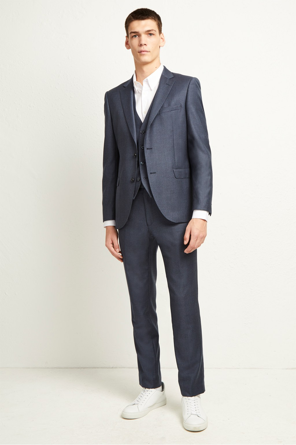 Blue Dogtooth Check Suit Trousers Collections French Connection