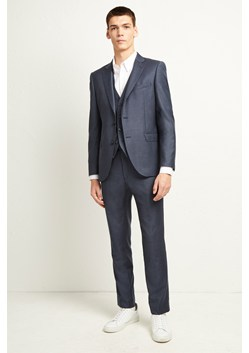 Blue Dogtooth Check Suit Trousers