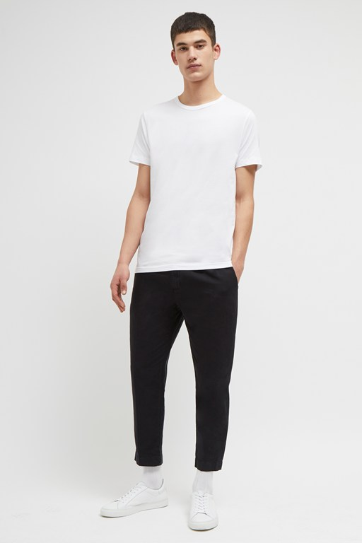 garment dyed cotton linen trousers