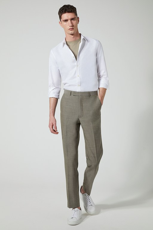 sage slim fit suit trouser