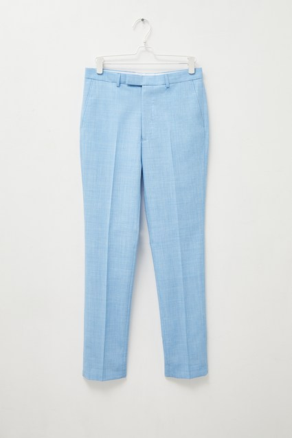 Light Blue Slim Fit Trousers