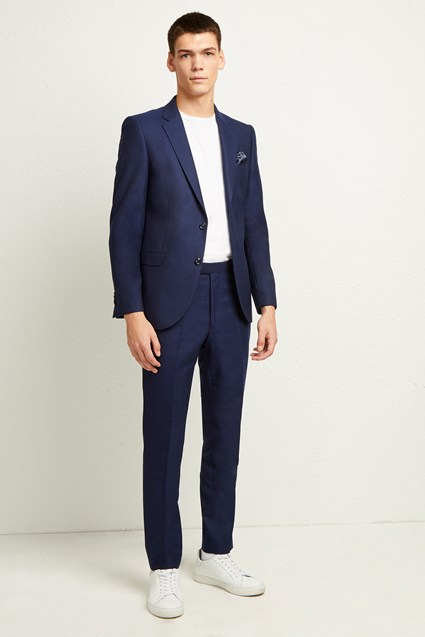 Ink Flannel Suit Trouser