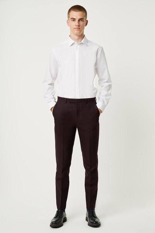 malbec flannel suit trousers