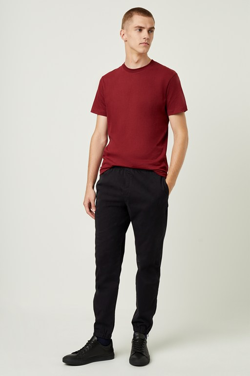 machine stretch zip detail trousers