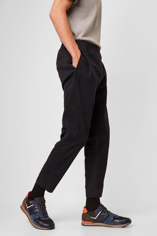 machine stretch paneled trousers