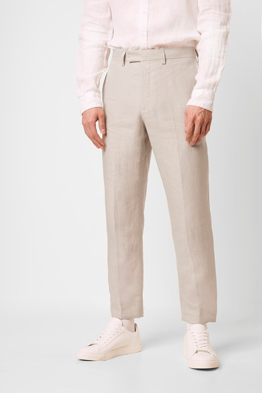 linen tailored trouser