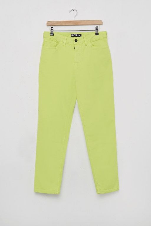fcuk neon overdyed denim trousers