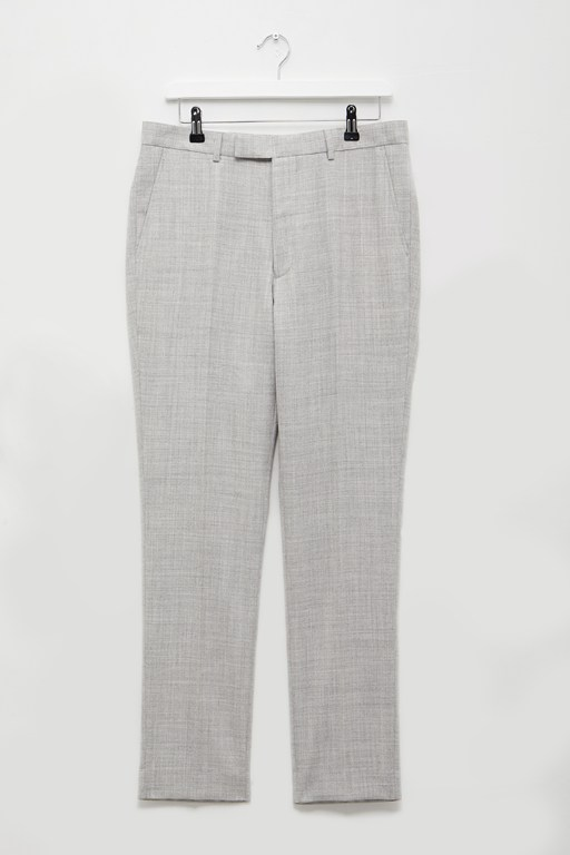light grey flannel suit trousers