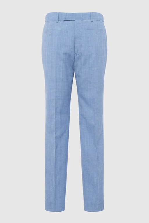 sky blue marl suit trouser