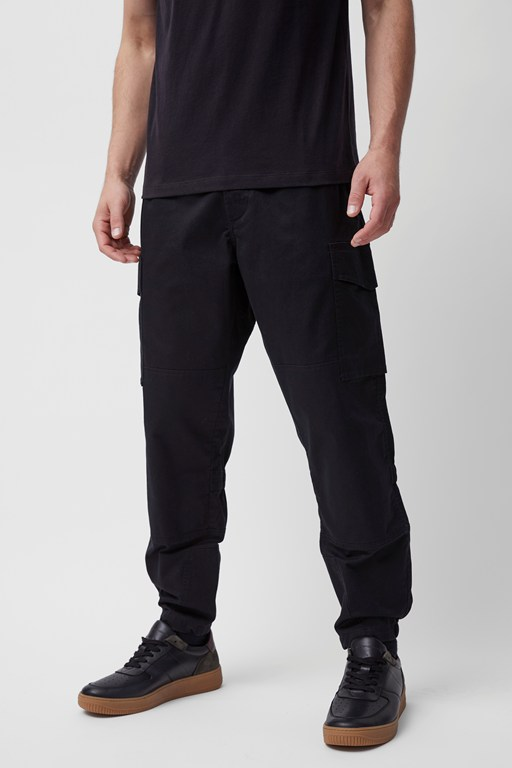 stone wash military combat trousers