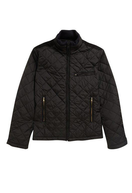 Quilted Cord Patch Jacket