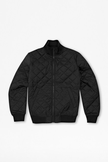 Marine Quilted Bomber Jacket