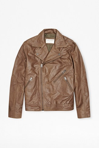 Sabah Leather Biker Jacket