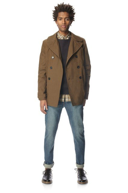 Action Cotton Basic Pea Coat