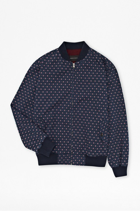 Advent Harrington Print Bomber Jacket