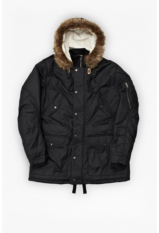 Nixie Mixed Polar Parka