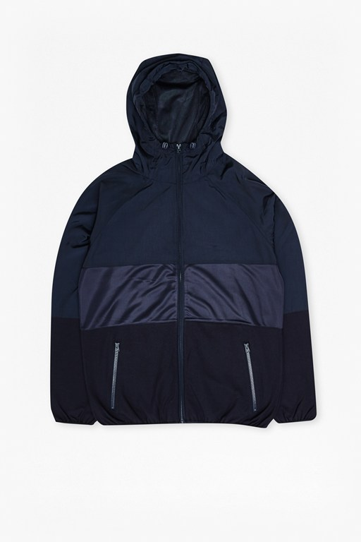 Complete the Look Mixed Nylon Run Hooded Jacket
