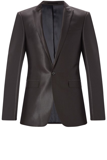 Single Button Suit Jacket Black