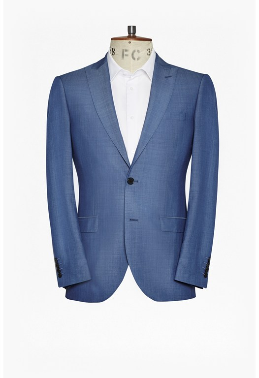 Slim Mid Blue Suit Jacket
