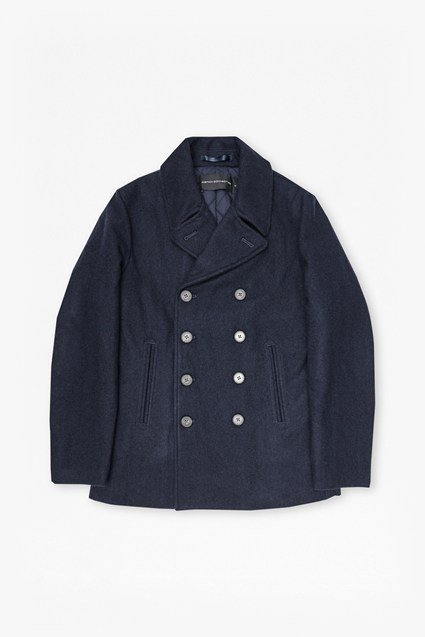 Marine Melton Double Breast Peacoat