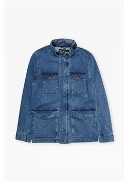 Track Stretch Denim Jacket