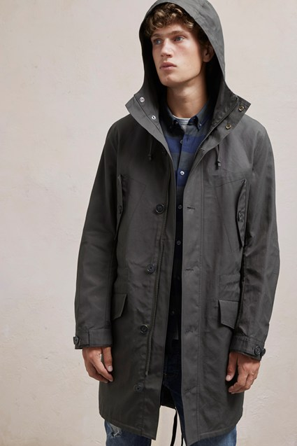 Canvas Wax Parka Jacket