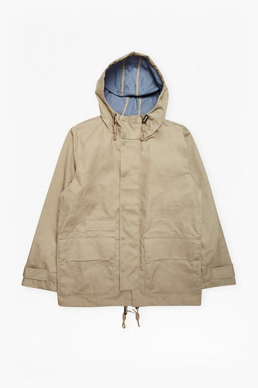 Complete the Look Bonded Cotton Hooded Rain Mac