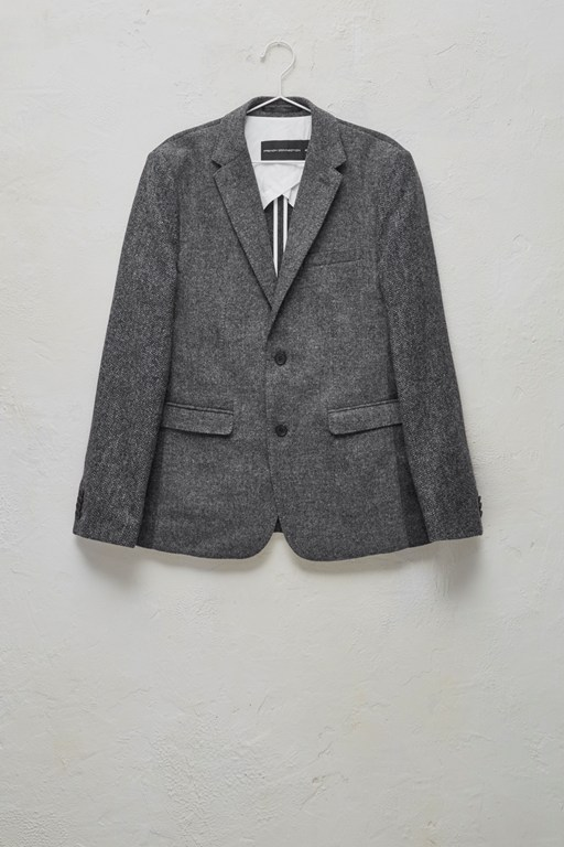 patchwork wool jacket