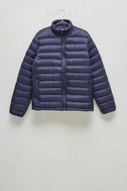Row Funnel Neck Quilted Jacket