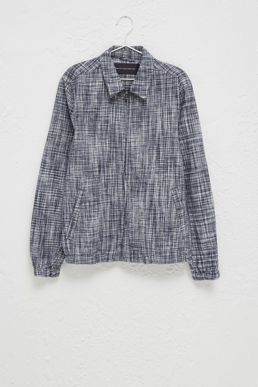 Complete the Look Linen Chambray Gingham Harrington Jacket