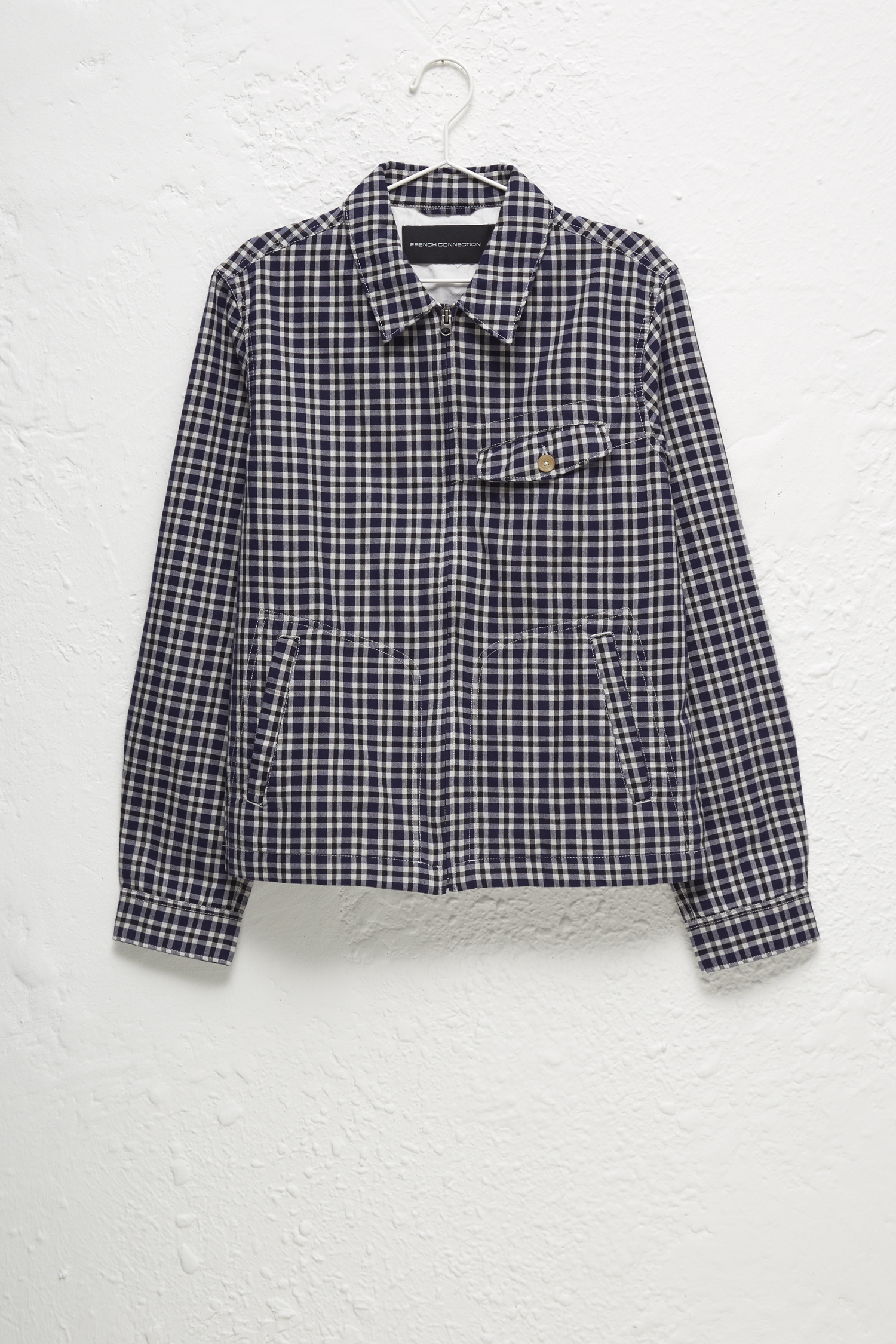 Laundered Oxford Check Harrington Jacket Collections French