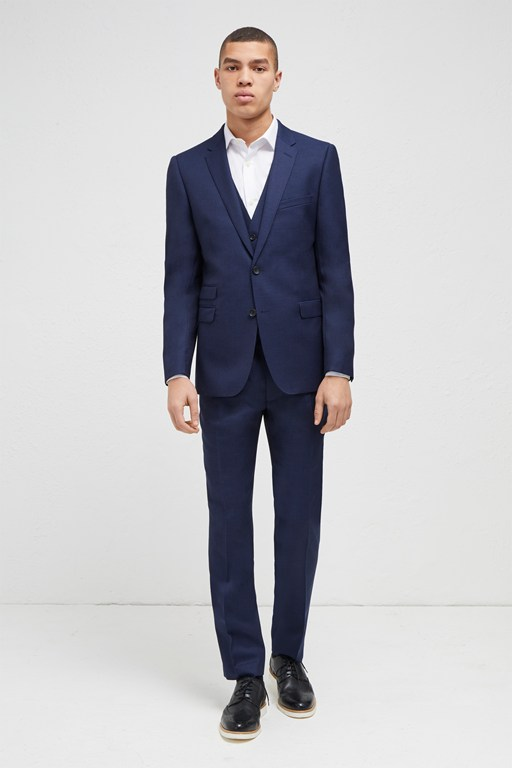bright blue milled suit jacket