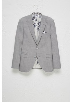 Light Grey Milled Suit Jacket