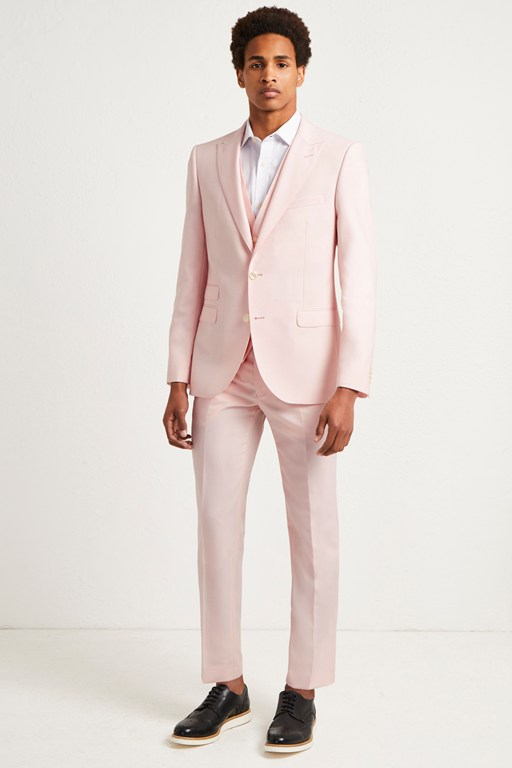light pink marl suit jacket