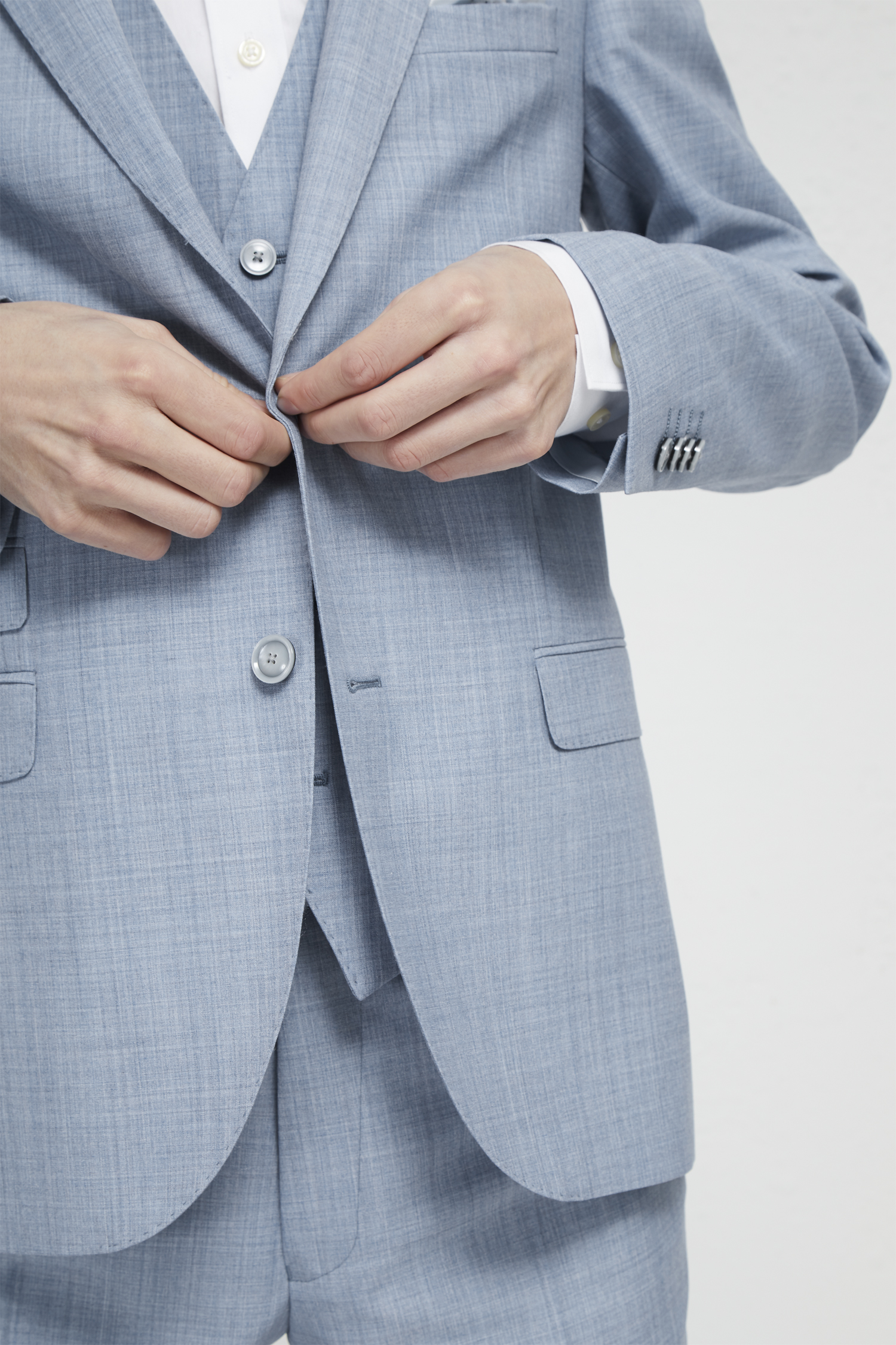 Sky Blue Marl Suit Jacket Collections French Connection