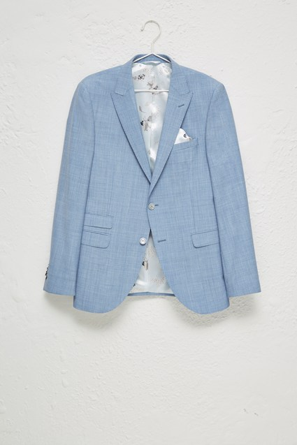 Sky Blue Marl Suit Jacket