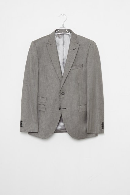 Light Grey Dogtooth Suit Jacket