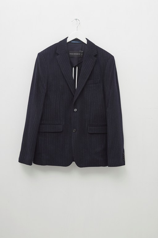 Complete the Look Patchwork Pinstripe Jacket