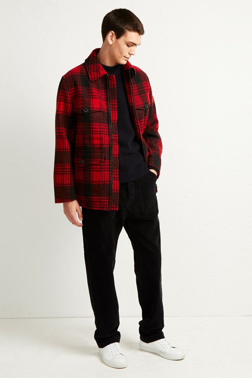 Complete the Look Hunting Check Harrington Jacket